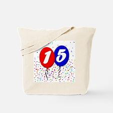 15th Birthday Tote Bag
