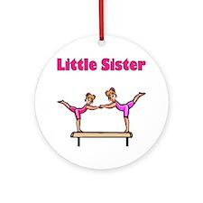 Little Sister Gymnastics Ornament (Round)