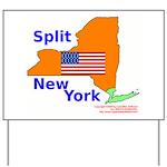Split New York Yard Sign