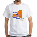 Split New York White T-Shirt