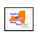 Split New York Framed Panel Print