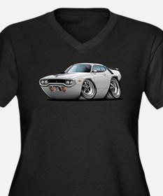 1971-72 Roadrunner White Car Women's Plus Size V-N