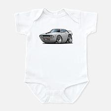 1971-72 Roadrunner White Car Infant Bodysuit