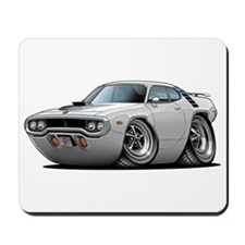 1971-72 Roadrunner White Car Mousepad