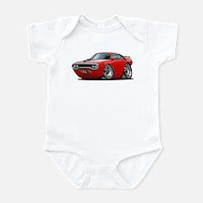 1971-72 Roadrunner Red Car Infant Bodysuit