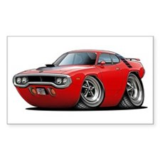 1971-72 Roadrunner Red Car Rectangle Decal