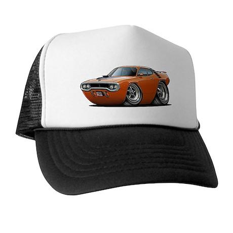 1971-72 Roadrunner Orange Car Trucker Hat