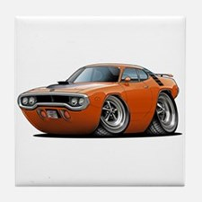 1971-72 Roadrunner Orange Car Tile Coaster