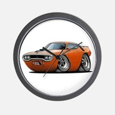 1971-72 Roadrunner Orange Car Wall Clock