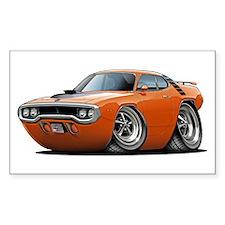 1971-72 Roadrunner Orange Car Rectangle Decal