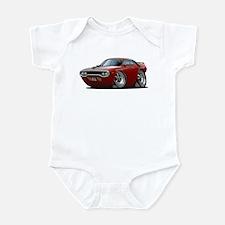 1971-72 Roadrunner Maroon Car Infant Bodysuit