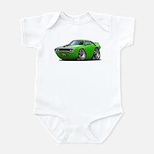 1971-72 Roadrunner Lime Car Infant Bodysuit