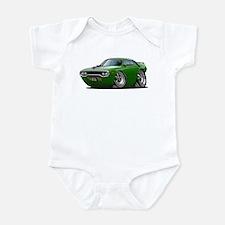 1971-72 Roadrunner Green Car Infant Bodysuit