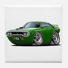 1971-72 Roadrunner Green Car Tile Coaster