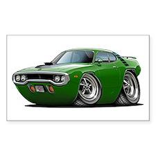 1971-72 Roadrunner Green Car Rectangle Decal
