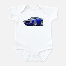 1971-72 Roadrunner Blue Car Infant Bodysuit
