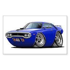 1971-72 Roadrunner Blue Car Rectangle Decal