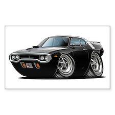 1971-72 Roadrunner Black Car Rectangle Decal
