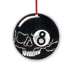 Skull Eight Ball Ornament (Round)