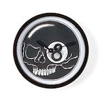 Skull Eight Ball Wall Clock