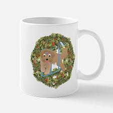 Agility Beardie Xmas Wreath Mug