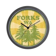 Forks, WA Wall Clock