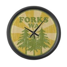 Forks, WA Large Wall Clock