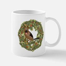 German Shepherd Xmas Wreath Mug