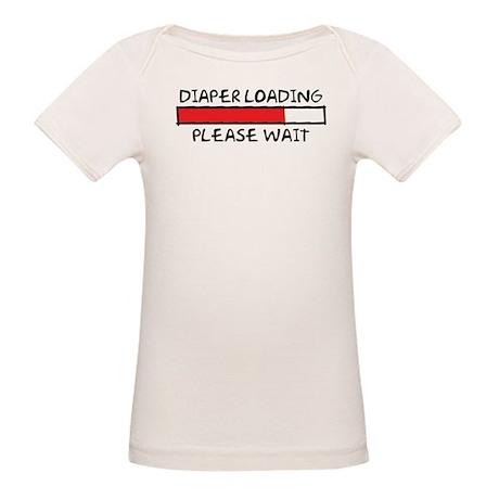 Diaper Loading Organic Baby T-Shirt