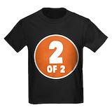 1 of 2 Kids T-shirts (Dark)