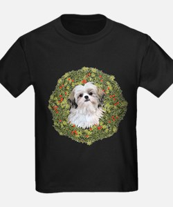 Shih Tzu Xmas Wreath T