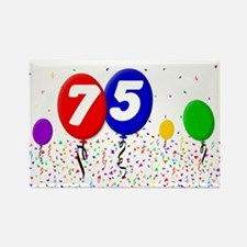 75th Birthday Rectangle Magnet (100 pack)