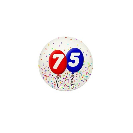 75th Birthday Mini Button (100 pack)