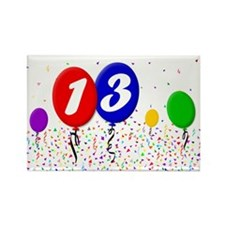 13th Birthday Rectangle Magnet