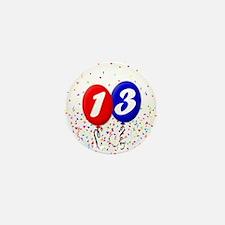 13th Birthday Mini Button