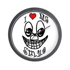 I Love My Smile Wall Clock