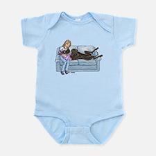 CBlk Lap Baby Infant Bodysuit