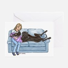 CBlk Lap Baby Greeting Cards (Pk of 20)