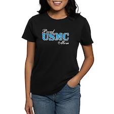 Proud USMC Mom Teal Tee