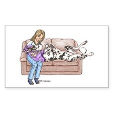 CH Lap Couch Rectangle Decal