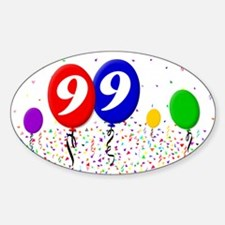 99th Birthday Oval Decal