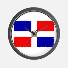 Vintage Dominican Flag Wall Clock