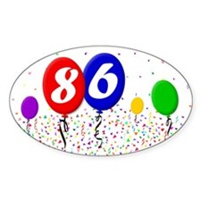 86th Birthday Oval Decal