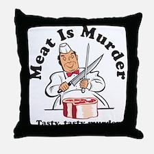 Meat Is Murder Throw Pillow