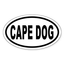 CAPE DOG Euro Oval Decal