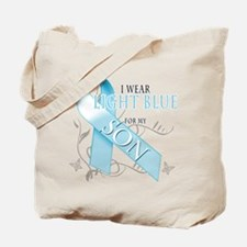 I Wear Light Blue for my Son Tote Bag