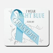 I Wear Light Blue for my Grandpa Mousepad