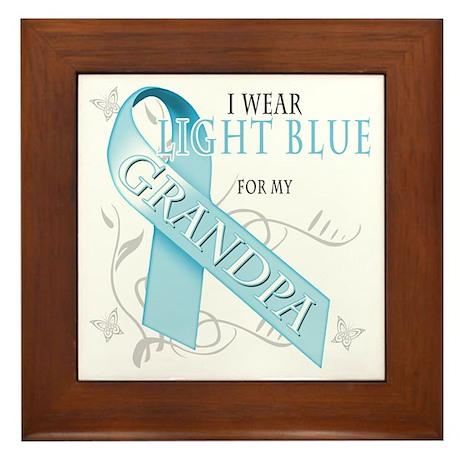 I Wear Light Blue for my Grandpa Framed Tile
