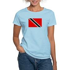 Trinidad and Tobago Flag Women's Pink T-Shirt