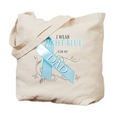 I Wear Light Blue for my Dad Tote Bag